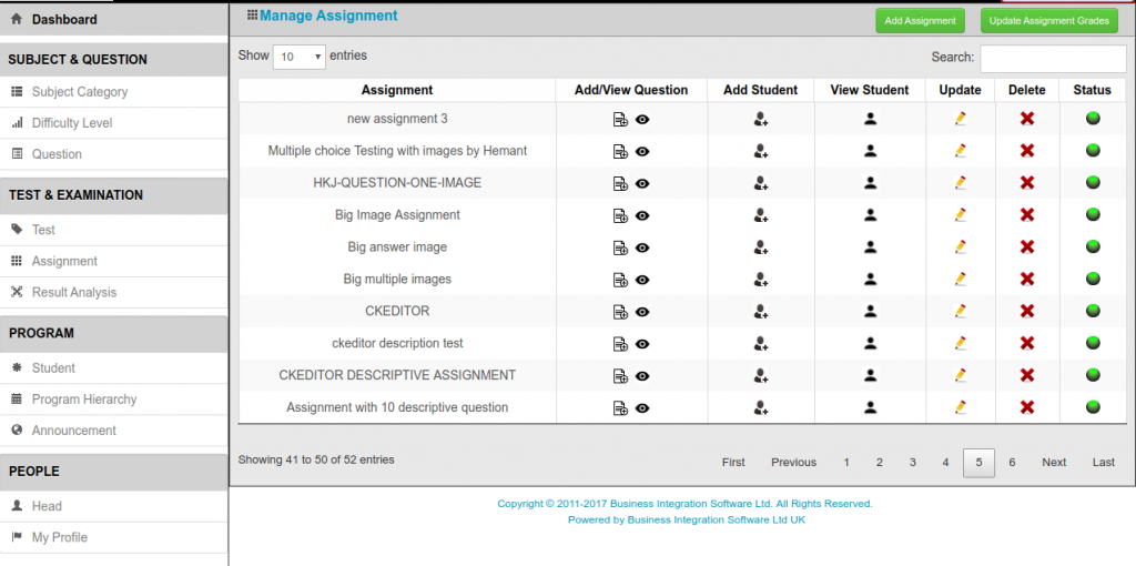 Manage online Assessment software online Assessment Management Assessment System